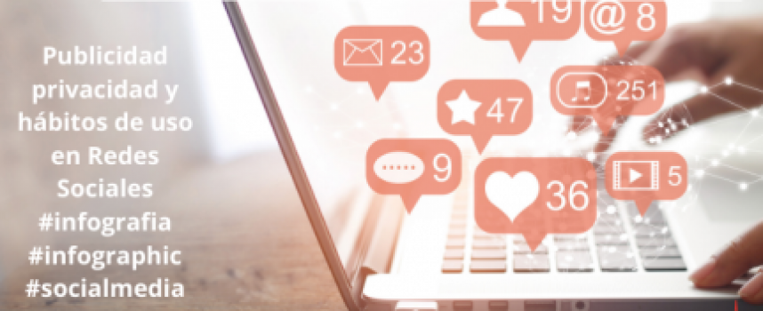 Publicidad privacidad y hábitos de uso en Redes Sociales #infografia #infographic #socialmedia