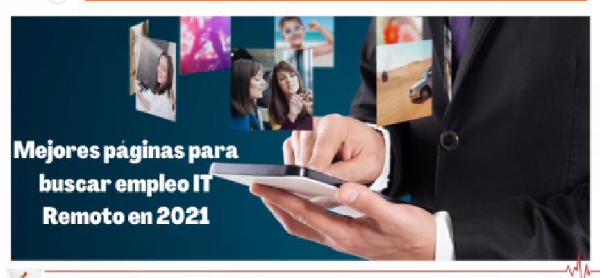 Mejores páginas para buscar empleo IT Remoto en 2021