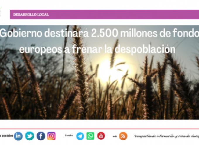 El Gobierno destinará 2.500 millones de fondos europeos a frenar la despoblación