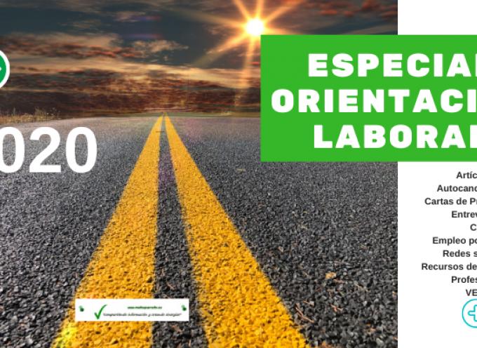 Especial Orientación Laboral y Profesional 2020 | (recursos de empleo, autocandidaturas, objetivos, #cv, cartas presentación, #empleorrss, etc)