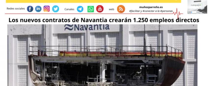 Los nuevos contratos de Navantia crearán 1.250 empleos directos