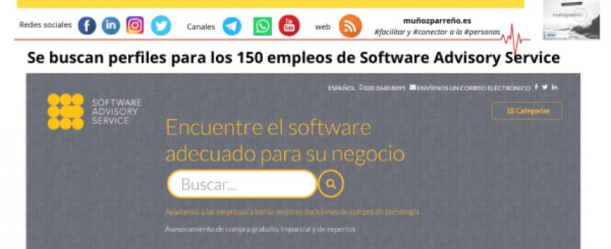Se buscan perfiles para los 150 empleos de Software Advisory Service