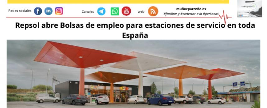 Repsol abre Bolsas de empleo para estaciones de servicio en toda España