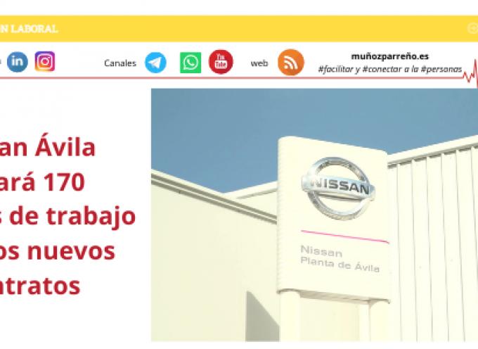 Nissan Ávila creará 170 puestos de trabajo con dos nuevos contratos