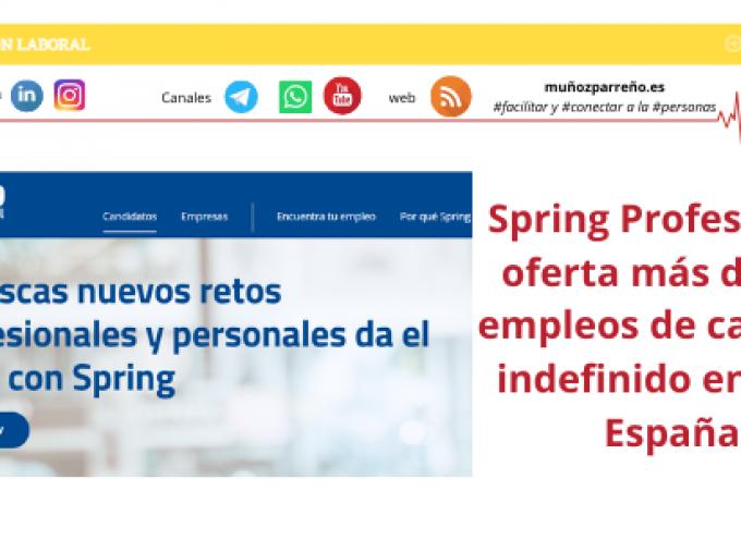 Spring Professional oferta más de 500 empleos de carácter indefinido en toda España
