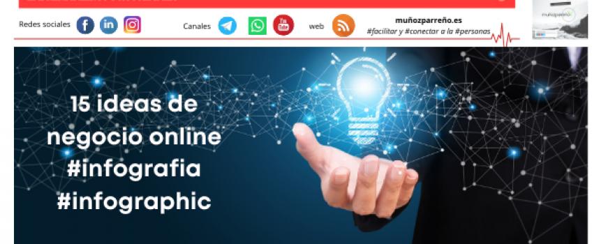 15 ideas de negocio online #infografia #infographic