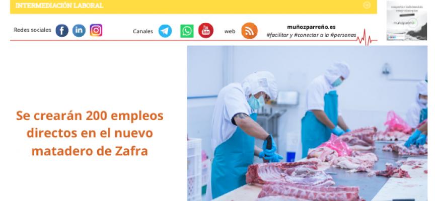 Se crearán 200 empleos directos en el nuevo matadero de Zafra