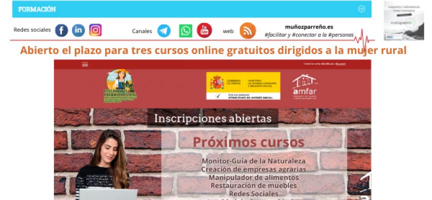 Abierto el plazo para tres cursos online gratuitos dirigidos a la mujer rural – Plazo 2 de abril de 2021