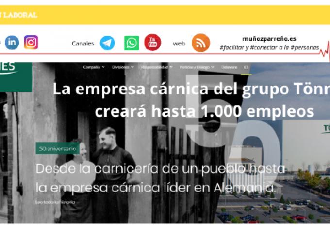 La empresa cárnica del grupo Tönnies creará hasta 1.000 empleos