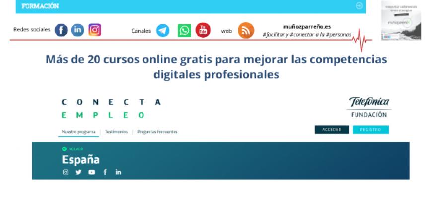 Más de 20 cursos online gratis para mejorar las competencias digitales profesionales