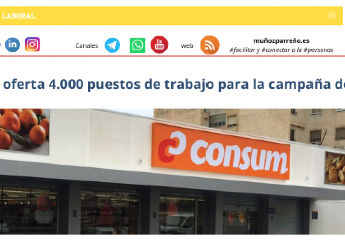 Consum oferta 4.000 puestos de trabajo para la campaña de verano