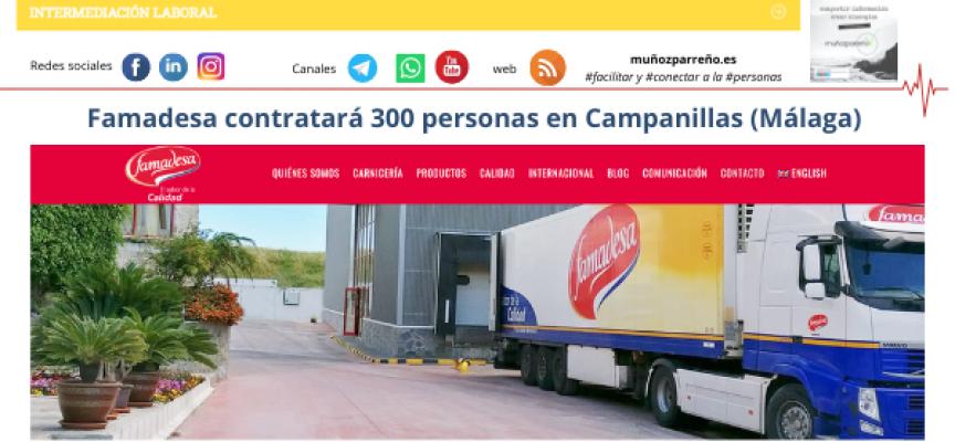 Famadesa contratará 300 personas en Campanillas (Málaga)
