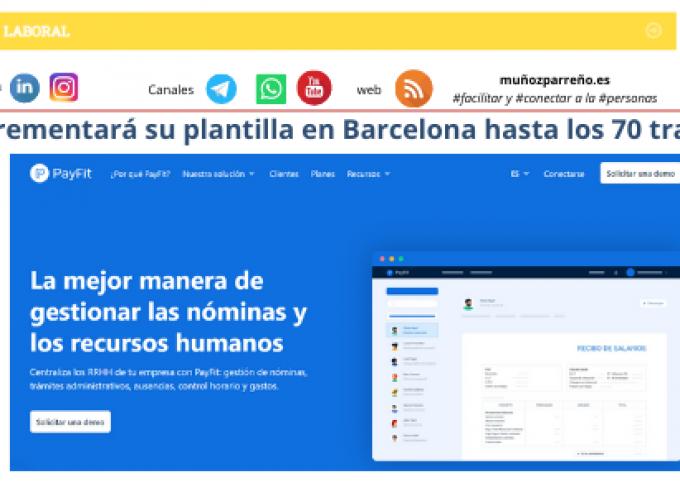 PayFit incrementará su plantilla en Barcelona hasta los 70 trabajadores
