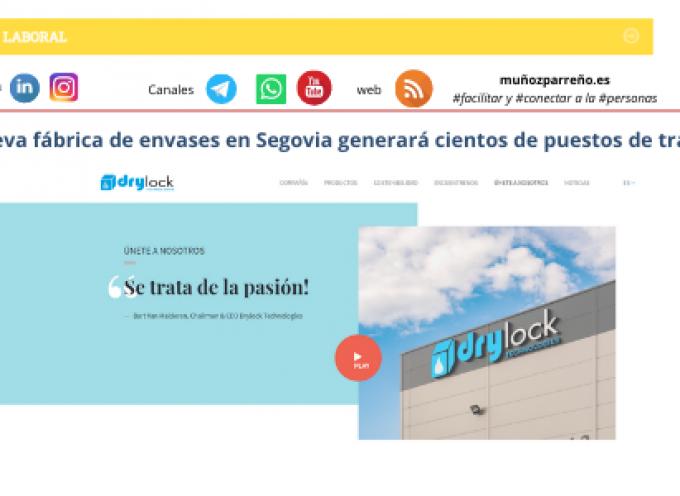 Nueva fábrica de envases en Segovia generará cientos de puestos de trabajos