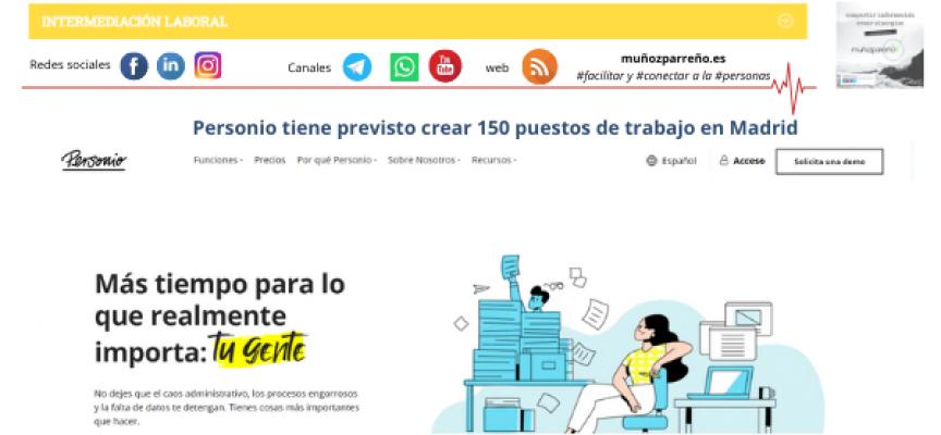 Personio tiene previsto crear 150 puestos de trabajo en Madrid