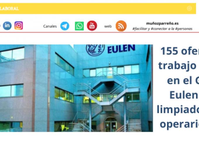 155 ofertas de trabajo activas en el Grupo Eulen para limpiadores/as, operarios/as…