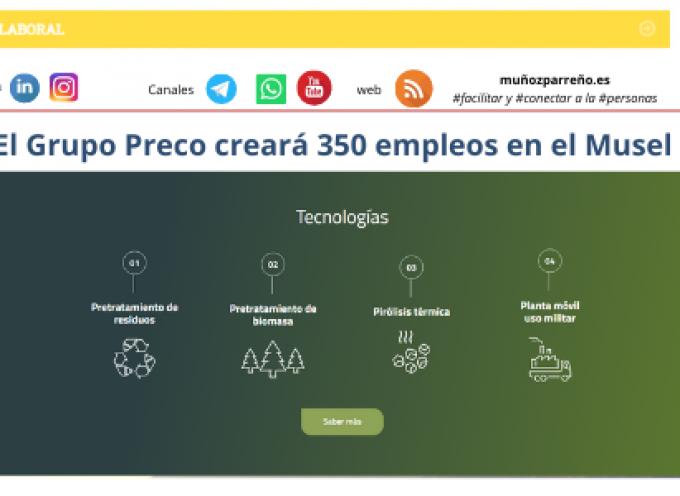 El Grupo Preco creará 350 empleos en el Musel