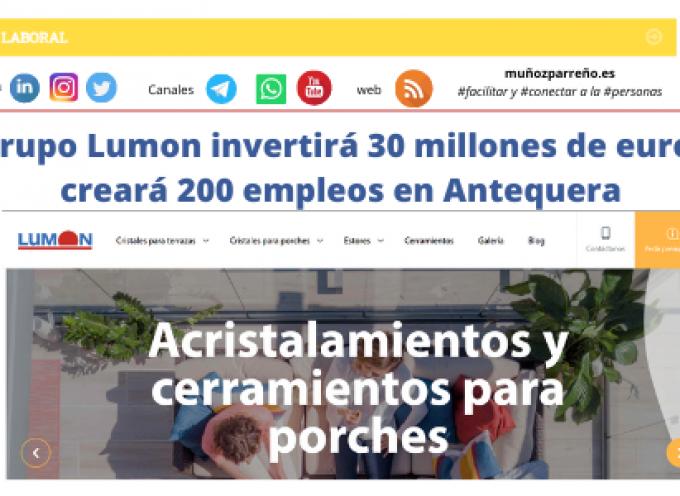 El grupo Lumon invertirá 30 millones de euros y creará 200 empleos en Antequera