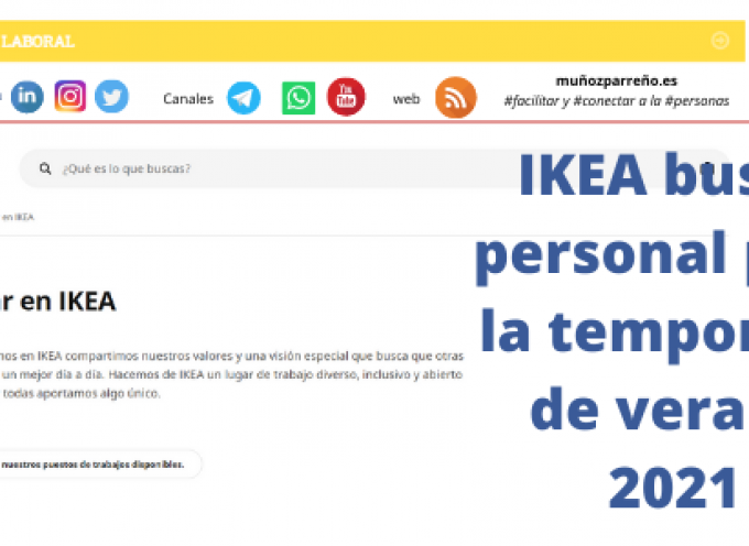IKEA busca personal para la temporada de verano 2021
