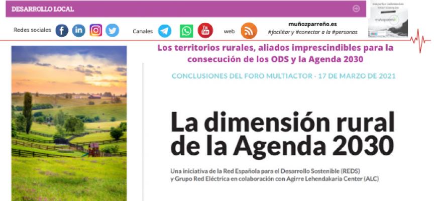 Los territorios rurales, aliados imprescindibles para la consecución de los ODS y la Agenda 2030