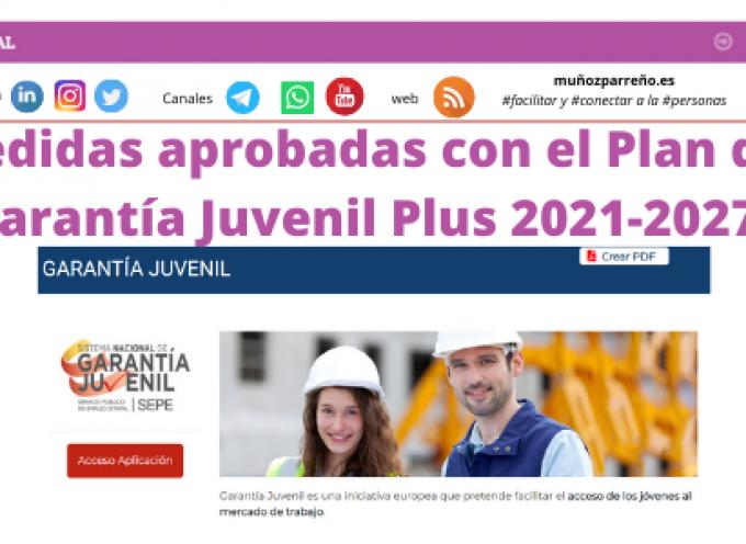 Medidas aprobadas con el Plan de Garantía Juvenil Plus 2021-2027