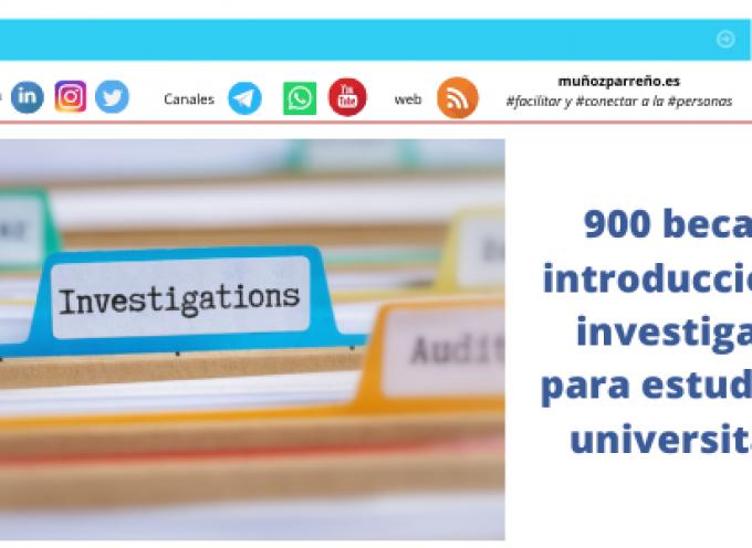 900 becas de introducción a la investigación para estudiantes universitarios
