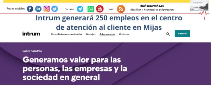 Intrum generará 250 empleos en el centro de atención al cliente en Mijas