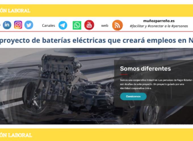 Nuevo proyecto de baterías eléctricas que creará empleos en Navarra
